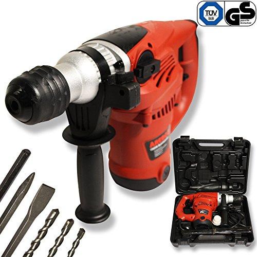 Arebos® Bohrhammer Schlagbohrmaschine Meisselhammer Schlagbohrer 1500 W inkl. Koffer