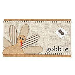 Mud Pie Holiday Thanksgiving Decor Gobble Turkey Pillow Wrap