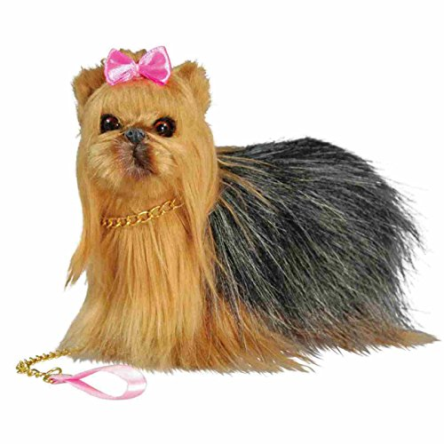 Dolls-Best-Friend-Adorably-Realistic-Yorkie-Dog-with-Collar-and-Leash-AWSOM-Perfect-for-Your-18-Inch-American-Girl-Doll-18-Inch-Doll-Play-Set-with-Dog-Carrier-Box-By-The-Queens-Treasures-Animal-Access