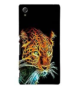 printtech Tiger Back Case Cover for Sony Xperia Z4::Sony Xperia Z4 E6553