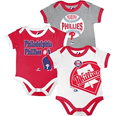 Philadelphia Phillies Infant Bases Loaded 3 Piece Creeper Set