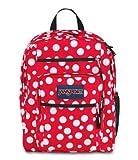 JanSport Big Student Backpack TDN7 (High Risk Red / White Sylvia Dot)