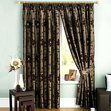 Carnaby Chocolate Brown Curtains 66