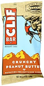CLIF ENERGY BAR, Crunchy Peanut Butter, 12 Count (Pack of 2)
