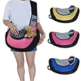 Ondoing Pet Sling Carrier Dog Cat Puppy Sling Bag Outdoor Pet Travel Bags for Small Dogs Up to 18 lbs Pink