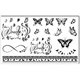 Bling Art Tatouages temporaires tribal noir Breathe Ensemble de sept femmes UK