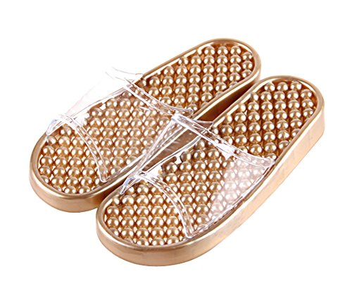 Summer Women Massage Slippers Bathroom Household Slippers US7-8.5, GOLDEN (Summer Household Slippers compare prices)