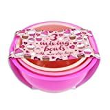 Pack Of 3 Pink Kitchen Baking & Mixing Plastic Bowls with Non-Slip Base - 2.5l 2l 1.5l
