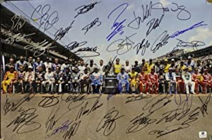 NASCAR autographed photo Indianapolis Sprint Cup 12x18 signed by All 43 Drivers...