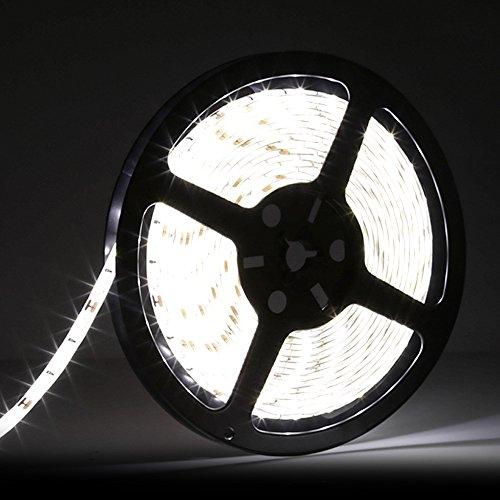LEDMO 5630 Flexible Led Strip, Daylight 300pcs SMD 5630LEDs 16.4Ft DC12V Waterproof IP65 25Lm/LED,2 times brightness than SMD5050 LED Ribbon, LED Tape Light (Ribbon With Led Lights compare prices)