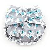 Bumkins Cloth Diaper Cover, Gray Chevron