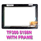 Replacement for Asus Transformer Eee Pad TF300T TF300 TF330TG Touch Screen Digitizer 5158N FPC-1 WITH FRAME