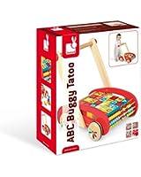 Janod - J05379 - Jouet de Premier Age - ABC Buggy Tatoo - 30 Cubes