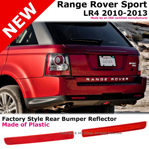 Discovery L320 Rover Sport Lr4 10-13 Rear Bumper Tail Light Reflector Red Pair