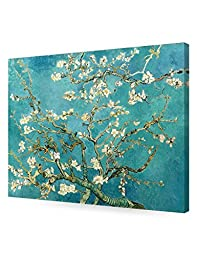 DecorArts - Almond Blossom Tree, by Vincent Van Gogh. The Classic Arts Reproduction. Giclee Print On Canvas, Stretched Canvas Gallery Wrapped. 30x24\