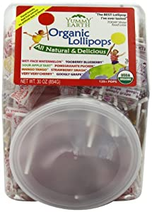 YumEarth Organic Fruit Lollipops, 30 Ounce Container