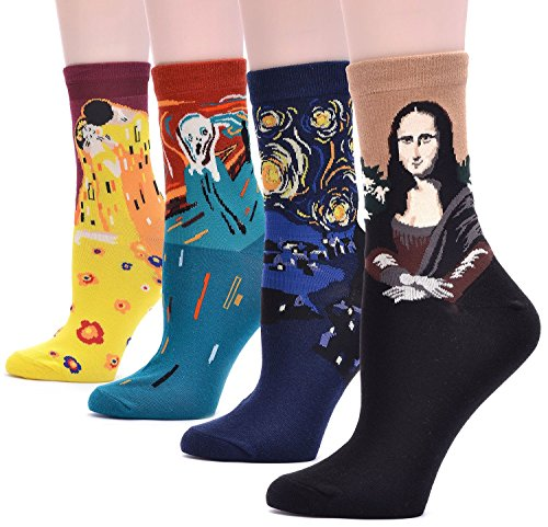 field4u-4-pairs-famous-collection-painting-crew-socks-4-painting