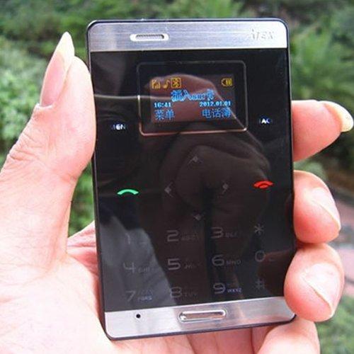White Black Slim Mini OLED Cell Phone GSM 900/1800 MP3 Bluetooth Card Size ddl (Black)