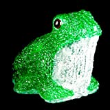 XEPA EHX-AF001 Whimsical LED Illuminated Acrylic Frog Sculpture, Green