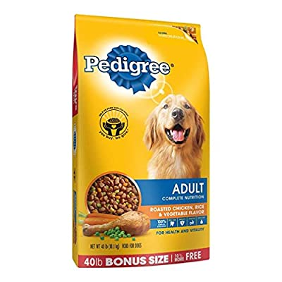 PEDIGREE Adult Roasted Chicken, Rice & Vegetable Flavor Dry Dog Food 40 Pounds from Mars Petcare