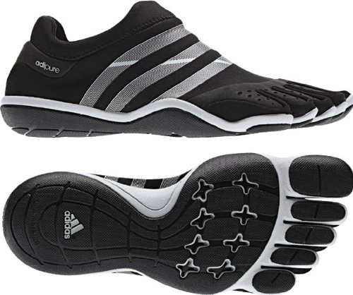 Adidas adiPURE Trainer Shoes (9 D(M) US, Black/Metallic Silver/Black)