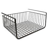InterDesign York Lyra Kitchen Pantry Under Shelf Organizer Basket, Bronze