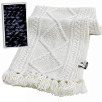 Carraig Donn Irish Aran Merino Wool Scarf Natural