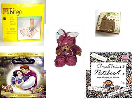 [Girl's Gift Bundle - Ages 6-12 [5 Piece] - Pavilion Bingo Game - Disney Family Fun Create Your Own Sand Castle Scrapbook - Teddy Bear Plush In Purple Mouse Costume 12