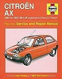 Haynes Citroën AX Petrol Diesel (87 - 97) D to P Car Maintenance Service Repair Manuals HAYNES MANUAL MANUALS 3014 3014B