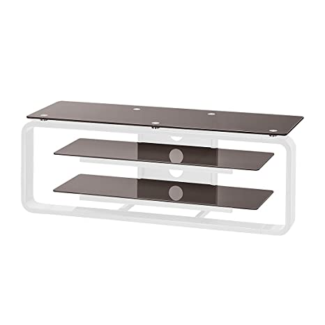 TV de rack colorco ncept Color (Cristal): Lava, color (estructura): Blanco Brillante