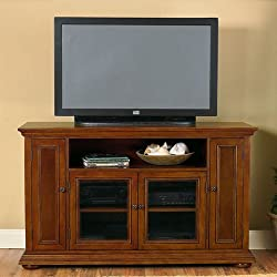 Warm Oak Finish Widescreen TV Credenza by Home Styles
