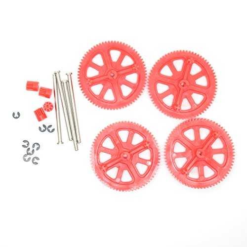 Parrot AR Drone 2.0 & Power Edition Replacement Motor Gears and Shaft / Repair Parts Kit / Upgrade Gears (Red)