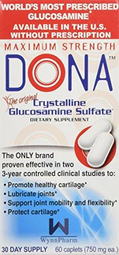 DONA Crystalline Glucosamine Sulfate, Caplets - 60 ea