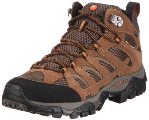 Merrell Men's Moab Mid Waterproof Hiking Boots - Earth 10 - Regular