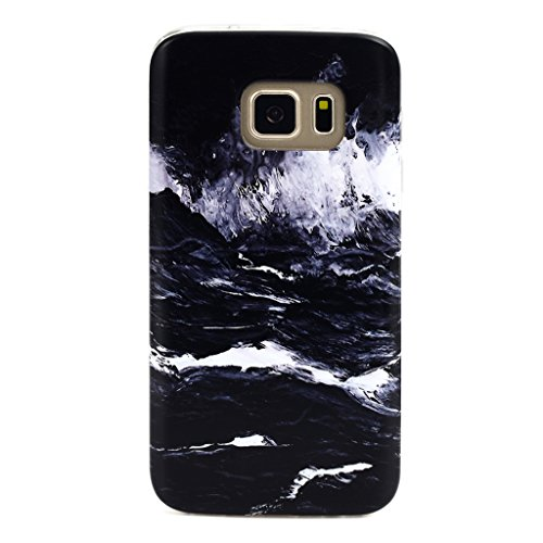 GOLINK Galaxy S7 Case IMD Slim-Fit Anti-Scratch Shock Proof Anti-Finger Print TPU Case For Galaxy S7 - Oil Painting Dark Sea