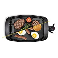 BELLA 2-in-1 Reversible Grill Griddle Combo, 1500 Watts, Non-Stick BPA Free
