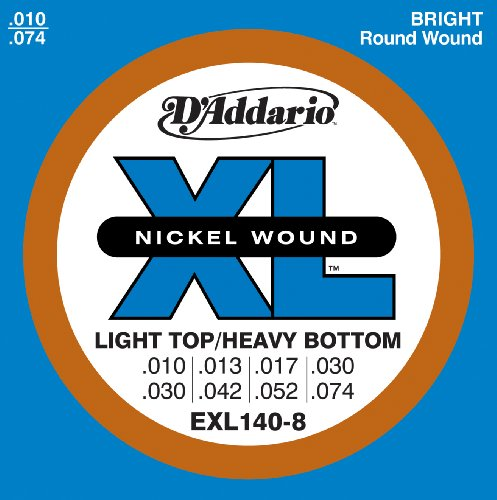 D'Addario EXL140-8 8-String Nickel Wound Electric