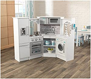 KidKraft Ultimate Corner Kitchen with Lights & Sounds - White Toy