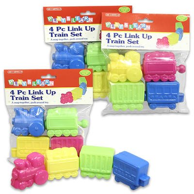 Play & Learn 4 Piece Plastic Link up Train Set for Kids - 1