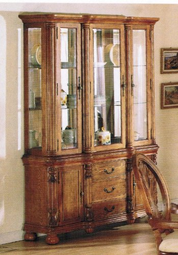 Cheap China Cabinet Buffet Hutch Medium Oak Finish (VF_AZ00-39515×21548)