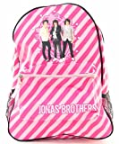 Jonas Brothers Backpacks! - 3 different styles to rock out with! (Hot Pink/Light Pink Diagonal Stripes)