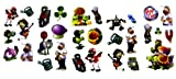3D Foam Plants vs Zombies (30 Stickers) with Zombie Outbreak Cut-out Door Signs