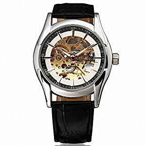 WINNER Graceful Dress Luxury Fashion Women's Automatic Mechanical Wrist Watch Leather Strap Precision W/ Box