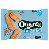 7 x Organix Finger Foods 12 Organic Baby Biscuits Stage 2 from 7 Months 100g