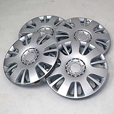 TuningPros WSC2-065S16 Hubcaps Wheel Skin Cover Type 2 16-Inches Silver Set of 4