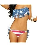 MEILISHO® Élégant Bikini Set Rembourré push up Maillot de Bain Idéal pour Femme Françase