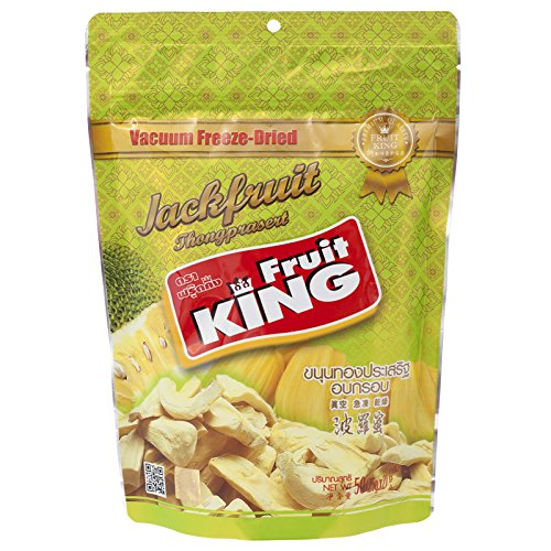 Fruit King, Vacuum Freeze-Dried Jackfruit, 50 g (Pack of 2 units) (Fruit King compare prices)