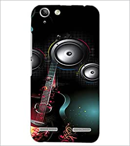 PrintDhaba Guitar D-4106 Back Case Cover for LENOVO LEMON 3 (Multi-Coloured)