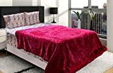 AmazingHind AC blanket.Mink Korean soft double bed ac blankets.The best ac blankets online. Color-Pink