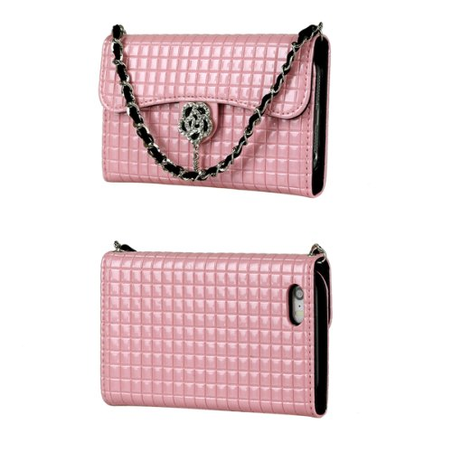 Toru Ihand Handbag Clutch Wallet Case With Bling For Iphone 5 / 5S [Retail Package] - Pastel Pink
